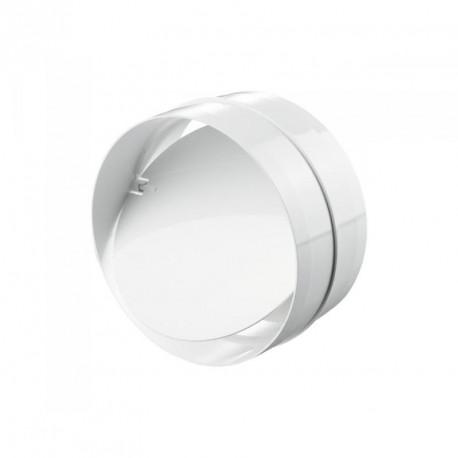 Zpětná klapka PVC pro kruhové potrubí Ø 100 mm