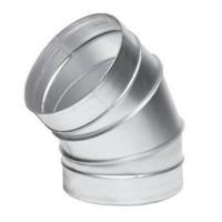 Koleno kovové 45 stupňů - průměr 125 mm