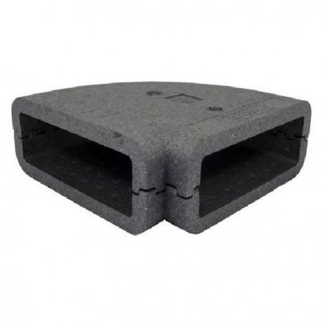 Izolace pro 90st. čtyřhranné PVC koleno, 204x60mm