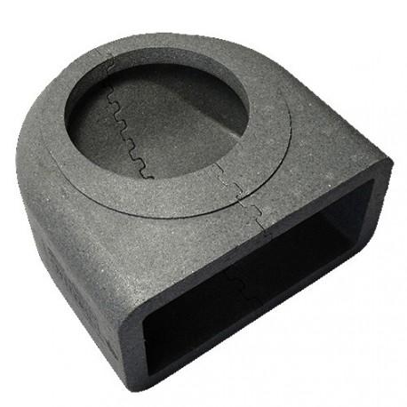 Izolace otočné 90st. kolenové PVC redukce, z 150mm na 204x60mm