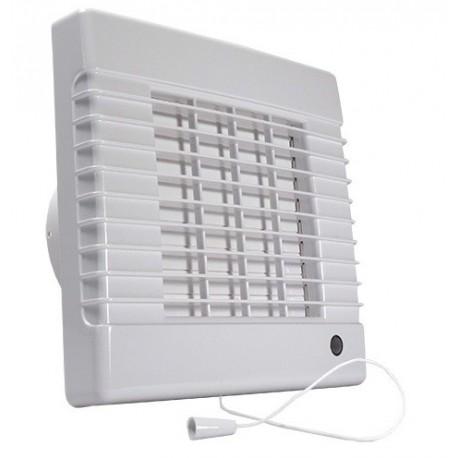 Ventilátor Dalap 125 LVL - vyšší výkon, žaluzie, ložiska, tahový spínač