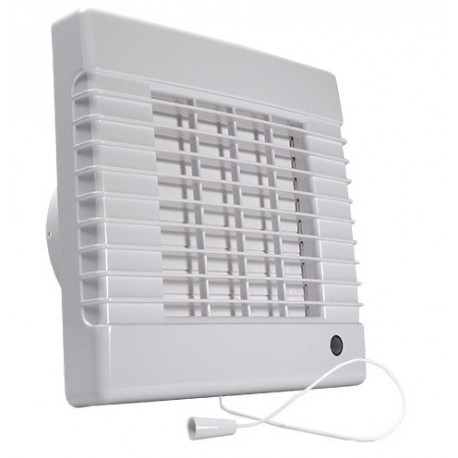 Ventilátor Dalap 150 LVL - vyšší výkon, žaluzie, ložiska, tahový spínač