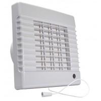 Ventilátor Dalap 125 LVLZ - vyšší výkon, žaluzie, ložiska, časovač, tahový spínač