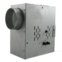 Ventilátor radiální do potrubí SPV 100 tichý, kuličková ložiska, termostat