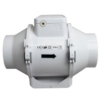 Profesionální ventilátor do potrubí Dalap AP PROFI 125 Z s časovačem