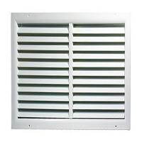 Větrací mřížka 500x500 mm z vysoce kvalitního extrudovaného hliníku - bílá