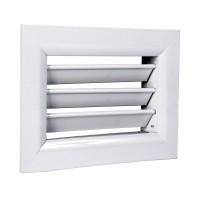 Větrací mřížka hliníková 150x150 mm, regulovatelné žaluzie, bílá