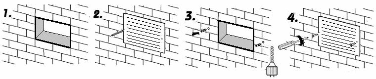 Montáž větrací mřížky